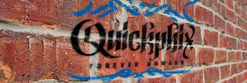 Quickphix Logo als Grafitti