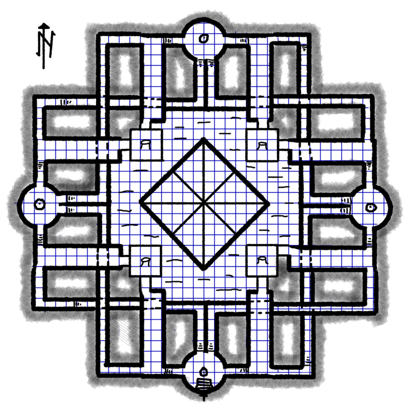 Map of the clock of elementals OPA5