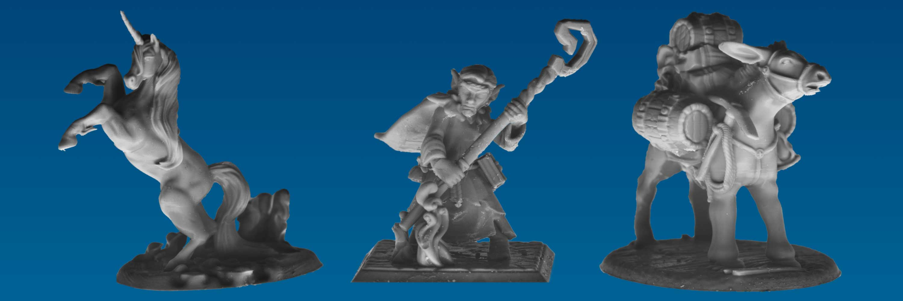 Banner for the Quickphix Shop (three miniatures)